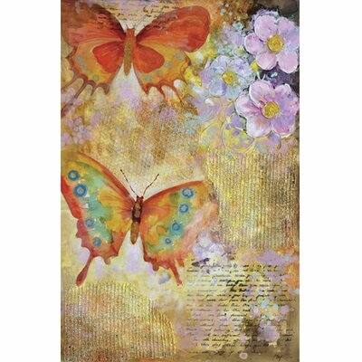 Revealed Art Butterfly Garden I Original Painting on Canvas by Yosemite Home Decor