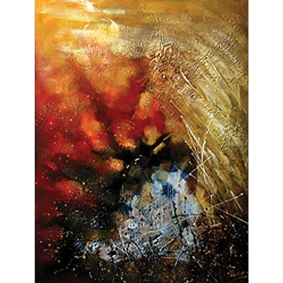 Contemporary & Abstract Art Stormy Weather Original Painting on Wrapped Canvas by Yosemite Home ...