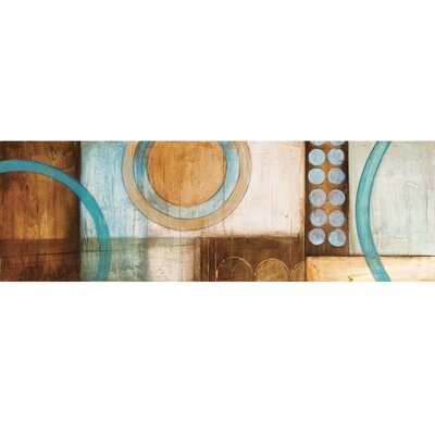 Unveiled Art Circles II Original Painting on Wrapped Canvas by Yosemite Home Decor