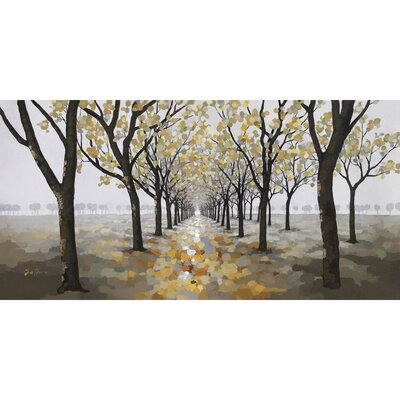 Revealed Artwork Pathway Original Painting on Wrapped Canvas by Yosemite Home Decor
