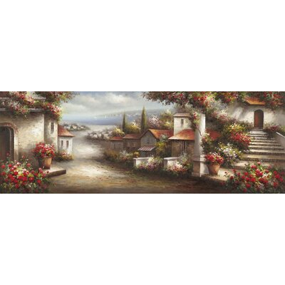Revealed Artwork European Village 1 Original Painting on Wrapped Canvas by Yosemite Home Decor
