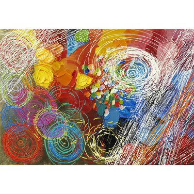 Revealed Artwork Cyclonic Abstraction I Original Painting on Wrapped Canvas by Yosemite Home Decor