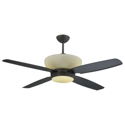 Yosemite Home Decor 54 Four Blade Ceiling Fan With Light Kit Reviews Wayfair