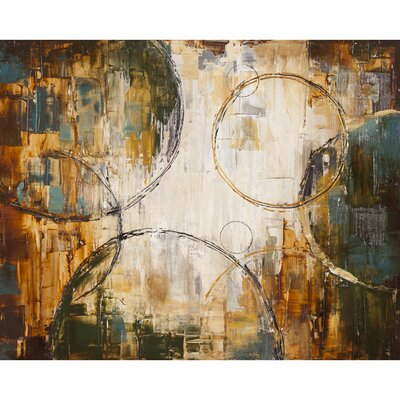 Revealed Artwork Floating Away I Original Painting on Wrapped Canvas by Yosemite Home Decor