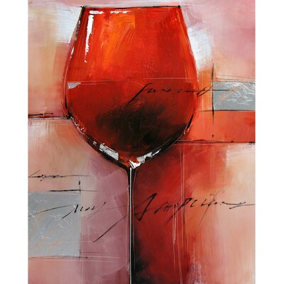 Red Merlot Wrapped Canvas Art by Yosemite Home Decor