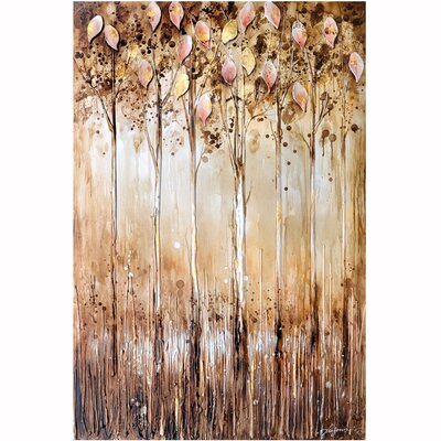 Revealed Artwork Serene Original Painting on Wrapped Canvas by Yosemite Home Decor