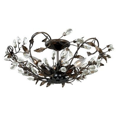 Jardin 4 Light Semi Flush Mount Product Photo
