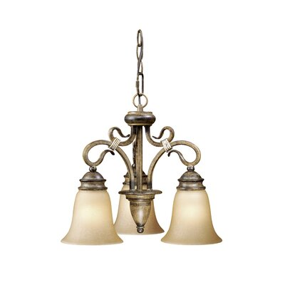 Vaxcel Berkeley 3 Light Mini Chandelier
