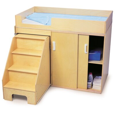 Whitney Brothers Toddler Changing Cabinet with Stairs
