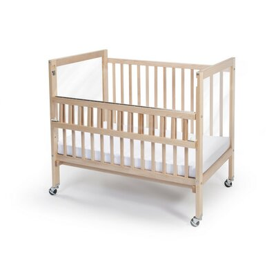 Whitney Brothers Clear View Folding Rail Convertible Crib with Mattress