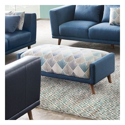 Magnetic Patterned Rectangular Ottoman by Diamond Sofa