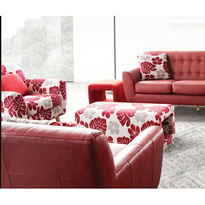 Scarlett Patterned Arm Chair and Ottoman by Diamond Sofa