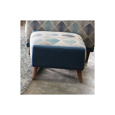 Magnetic Patterned Square Ottoman by Diamond Sofa