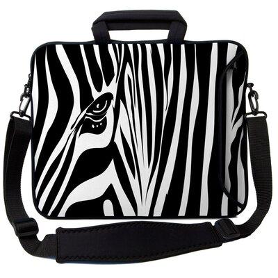 Executive Sleeves Zebra Eye PC Laptop Bag by Designer Sleeves