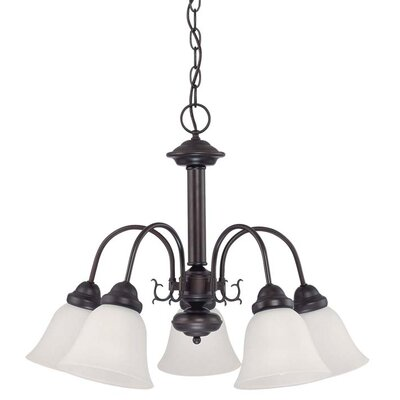 Nuvo Lighting Ballerina 5 Light Chandelier with Frosted Glass