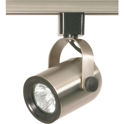 1 Light MR16 120V Round Back Track Head in Brushed Nickel Product Photo