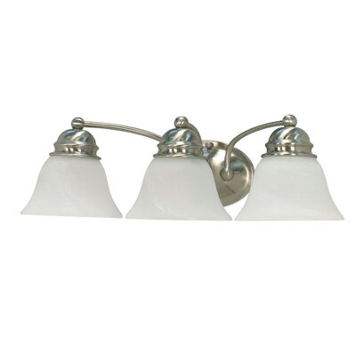 Nuvo Lighting EmpireVanity Light with Alabaster Glass in Brushed Nickel