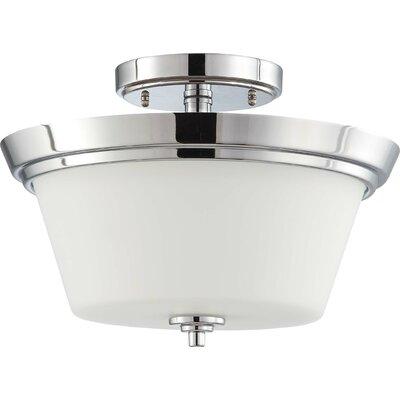 Bento 2 Light Semi Flush Mount by Nuvo Lighting