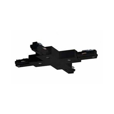 """Nuvo Lighting """"X"""" Track Light Connector in Black"""