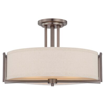 Gemini 3 Light Semi Flush Mount Product Photo