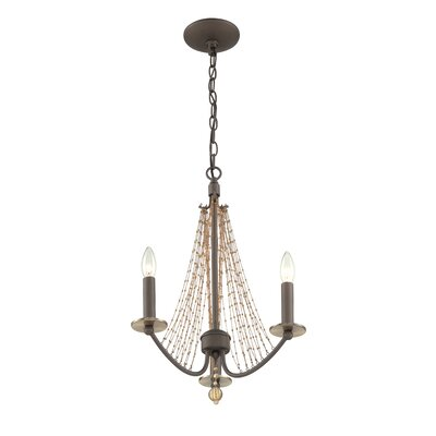 Swept Away 3 Light Mini Candle Chandelier by Varaluz