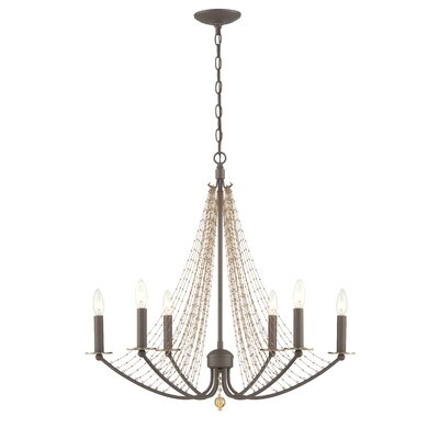 Swept Away 6 Light Candle Chandelier by Varaluz
