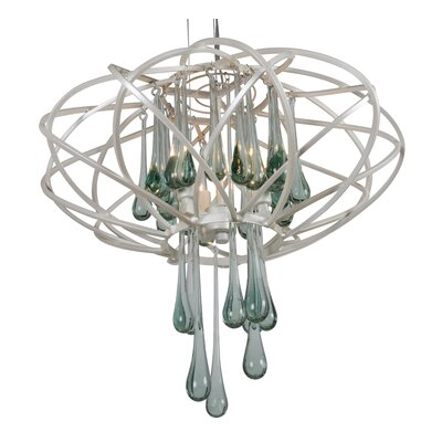 Area 51 Three Light Pendant in Pearl by Varaluz