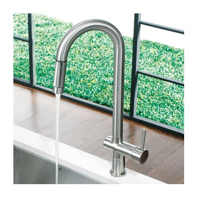 Savona One Handle Single Hole Pull Out Kitchen Faucet Product Photo