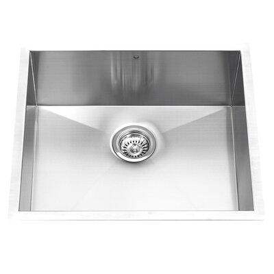 "23"" x 18"" Undermount Single Bowl Kitchen Sink Product Photo"
