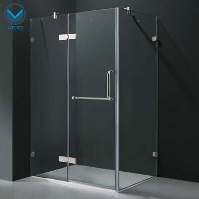 "24"" Pivot Door Swing Frameless Shower Enclosure Product Photo"