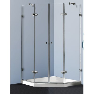 Sliding Door Shower Enclosure with Low-Profile Base Product Photo