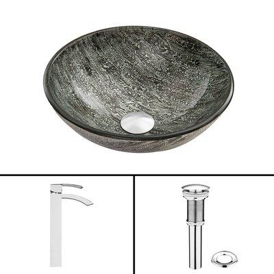 Titanium Glass Vessel Sink and Duris Faucet Set by Vigo