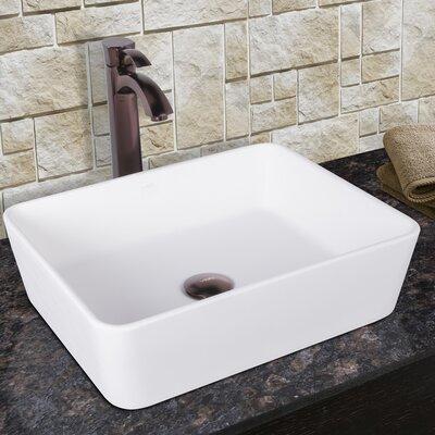 Sirena Composite Vessel Sink with Otis Bathroom Vessel Faucet by Vigo