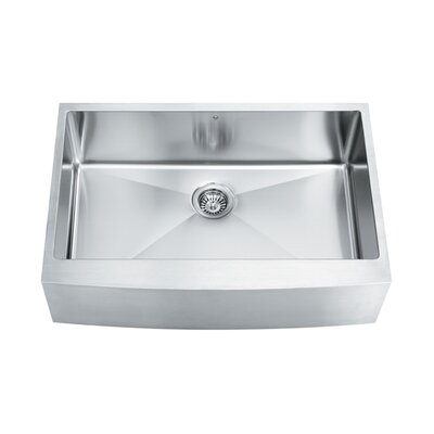 "33"" x 22.25"" Single Bowl 16 Gauge Farmhouse Kitchen Sink Product Photo"