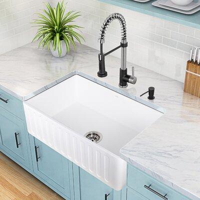 30'' x 18'' Matte Stone Farmhouse Sink Product Photo