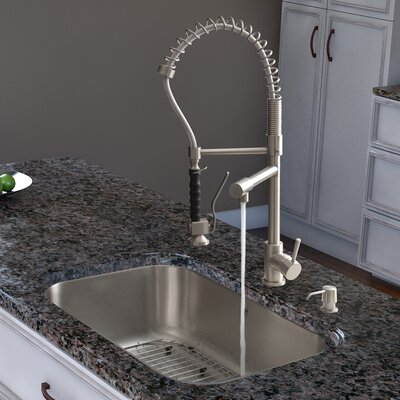 Two Handle Single Hole Pot Filler Kitchen Faucet with Pull-Down Spray by Vigo