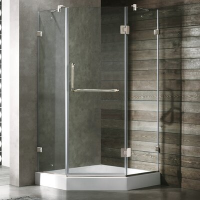 VIGO Piedmont 36.125 x 36.125 Frameless Neo-Angle .375-in Clear Glass/Chrome Hardware Shower Enclosure Product Photo