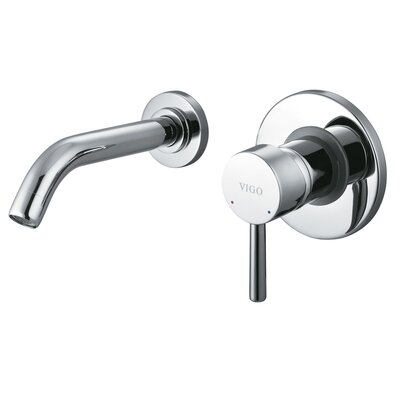Wall Mounted Bathroom Faucet with Single Lever Handle Product Photo