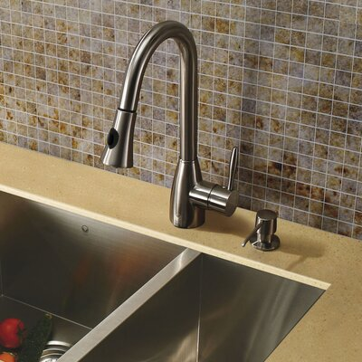 One Handle Single Hole Pull Out Spray Kitchen Faucet Product Photo