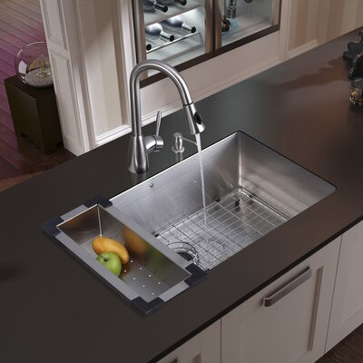 "30"" x 19"" Undermount Kitchen Sink Product Photo"