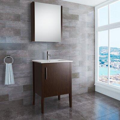 """Vigo Maxine 24"""" Single Bathroom Vanity Set with Mirror"""