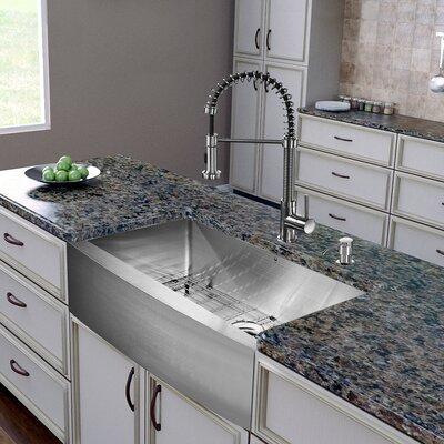 """All in One 30"""" x 22.25"""" Farmhouse Kitchen Sink and Faucet Set Product Photo"""