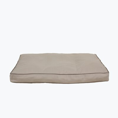 Classic Twill Rectangular Dog Pillow with Sage Cording by Zoey Tails