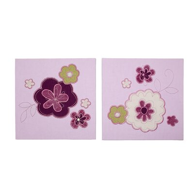 Pretty in Purple 2 Piece Canvas Art Set by NoJo