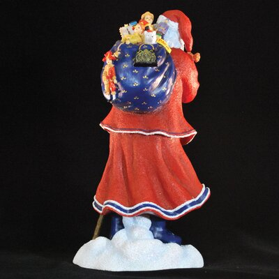 "Precious Moments ""Pere Noel of Paris"" Limited Edition Santa with Blue Bag of Toys Figurine"