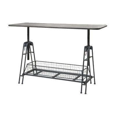 Henry Adjustable Metal Work Console Table by IMAX