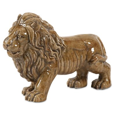 IMAX Baton Ceramic Lion Figurine