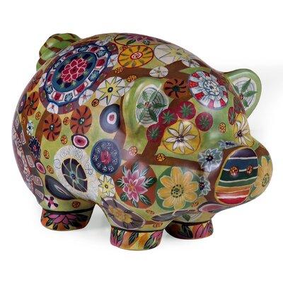 IMAX Folkart Piggy Bank