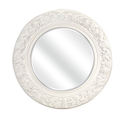 Merril Carved Round Mirror by IMAX