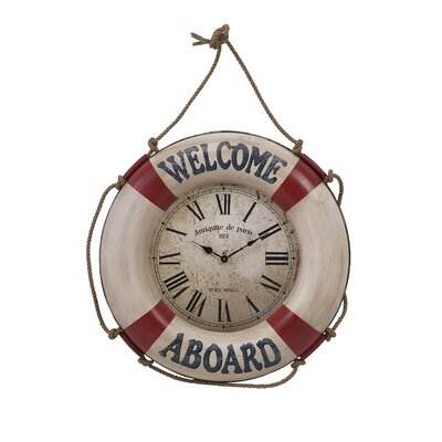 Welcome Aboard Wall Clock by IMAX